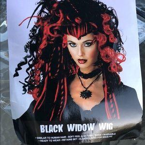 Adult Black widow wig.